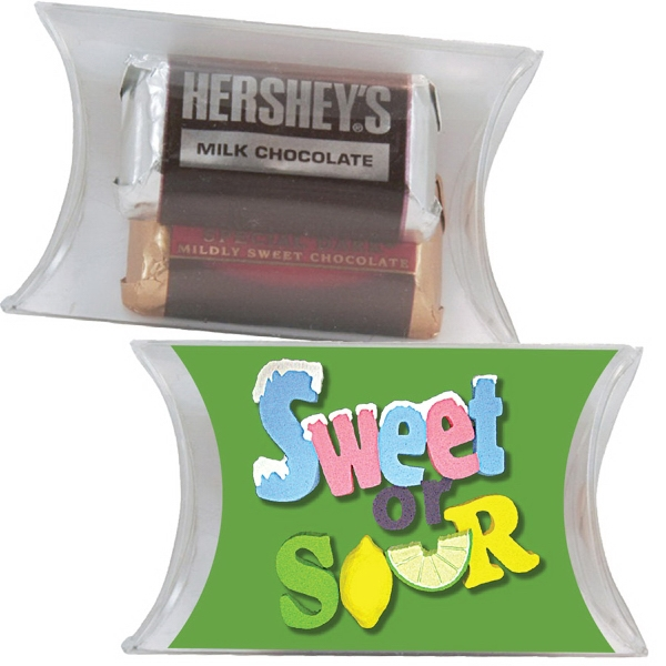 Item #PILLOW1CB-HM Small Pillow Pack with Hershey Miniatures Chocolate Candy
