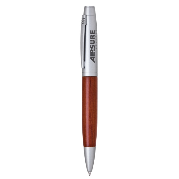 Item #PW-250B Wood Twist Action Ballpoint Pen