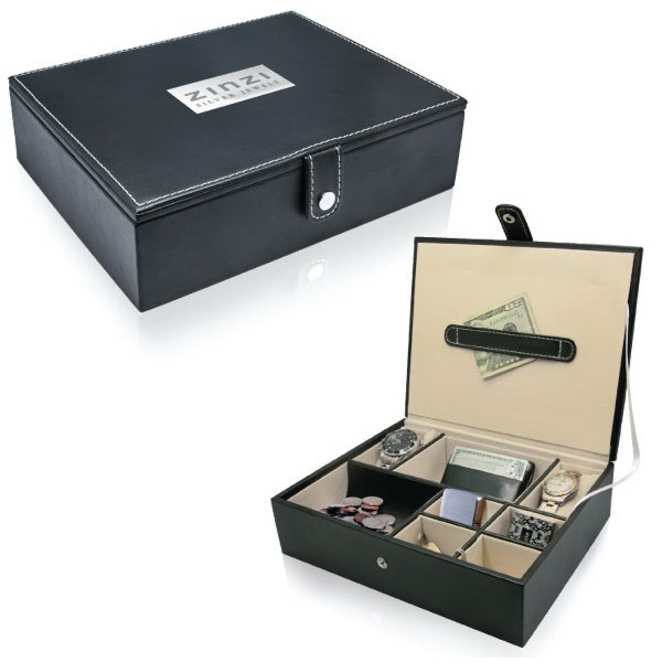 Item #VB010 Leatherette Valet Box