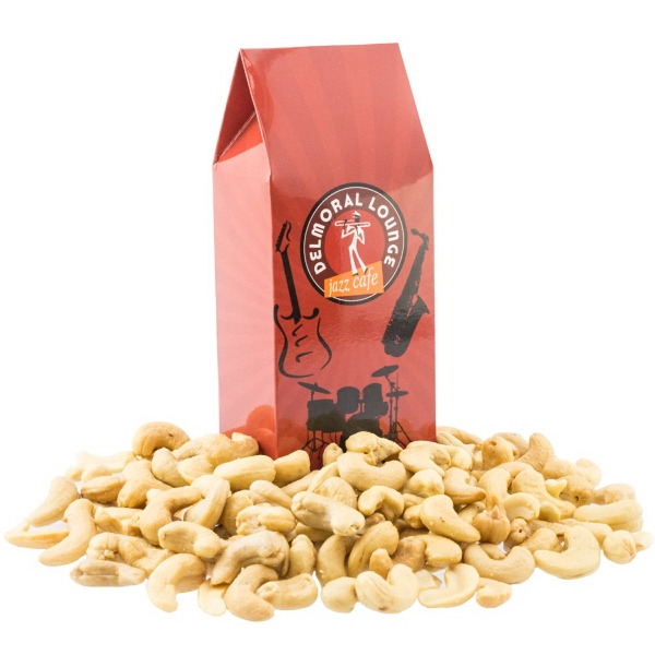 Item #LGABLE-CASHEW Large Gable Box with Cashews