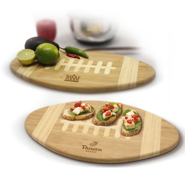 Item #CB100 Bamboo Football Cutting Board