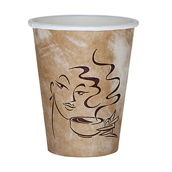 Item #3033-HFX 8 oz Paper Hot Cup - Flexographic Printing