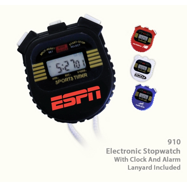 Item #TIMER 910BLACK Electronic Stop Watch Timer - E910