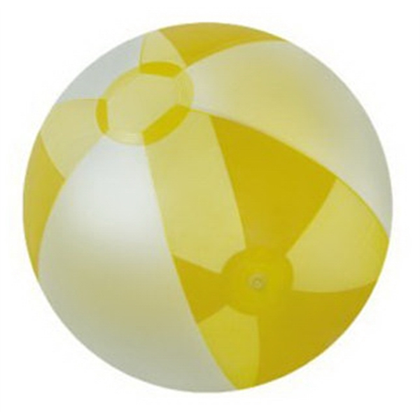 Inflatable Opaque White and Translucent Color Beach Ball