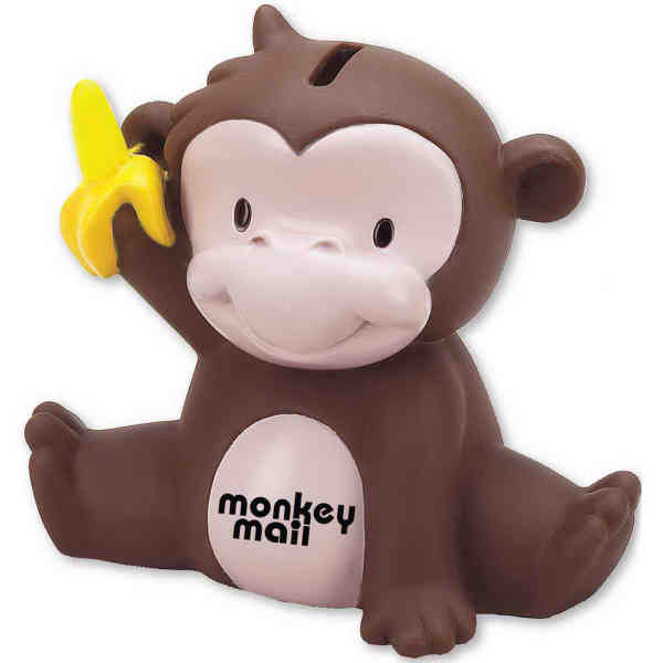Mischief - Monkey shaped bank with plug in bottom. - Item
