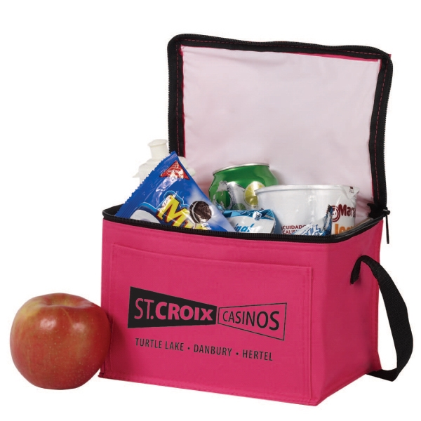 Item #B-6530 Poly 6 Can Lunch Cooler Bag