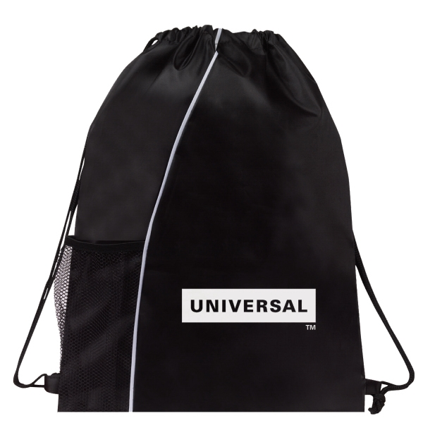 Item #B-6432 Colorblock Drawstring Backpack