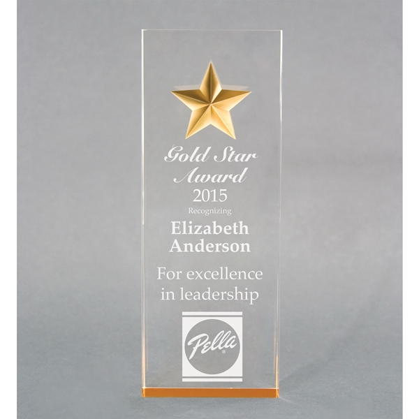 Item #AD-1808 Acrylic tapered star award