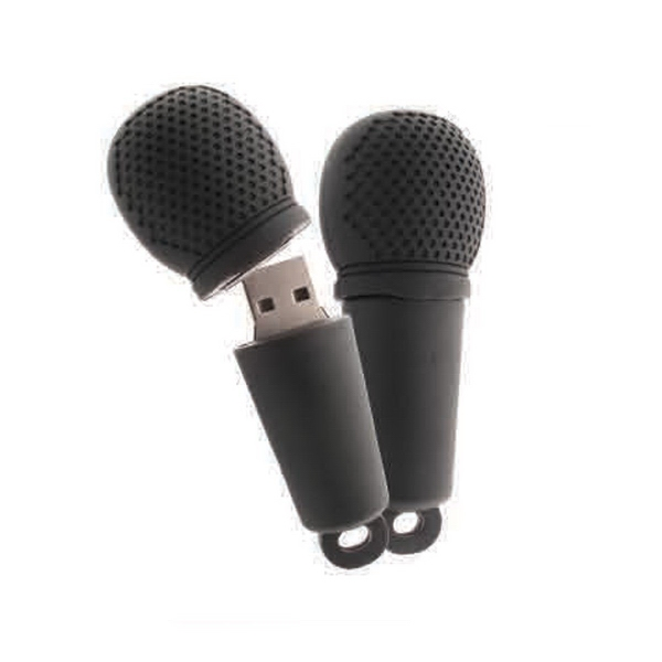 microphone usb drive item pvc24 custom printed promotional products. Black Bedroom Furniture Sets. Home Design Ideas