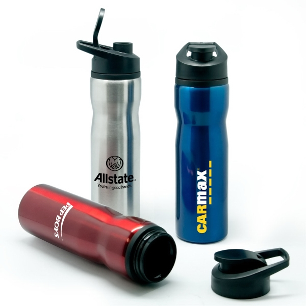 Item #SM728 Avalon - 28 oz Stainless Steel Sports Bottle