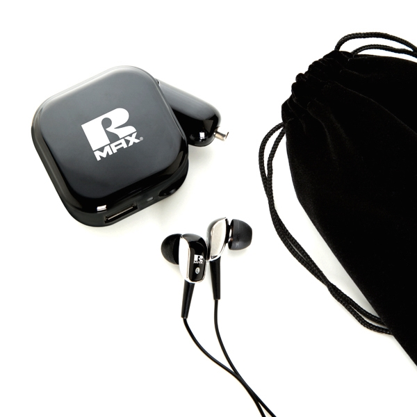 Item #GP6526 Earphone with AC/DC charger set