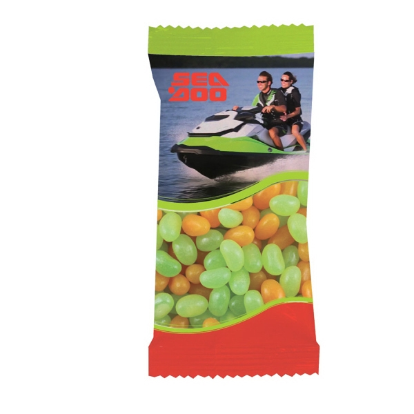Item #ZS5-BEANS Zaga Snack Promo Pack Candy Bag with Corporate Jelly Beans