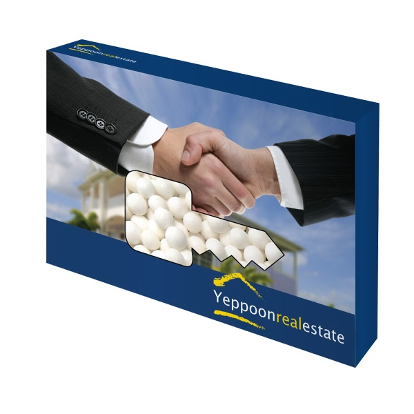 Item #KEY-BOX-MINTS Customizable Key Box Packaging with Signature Peppermints