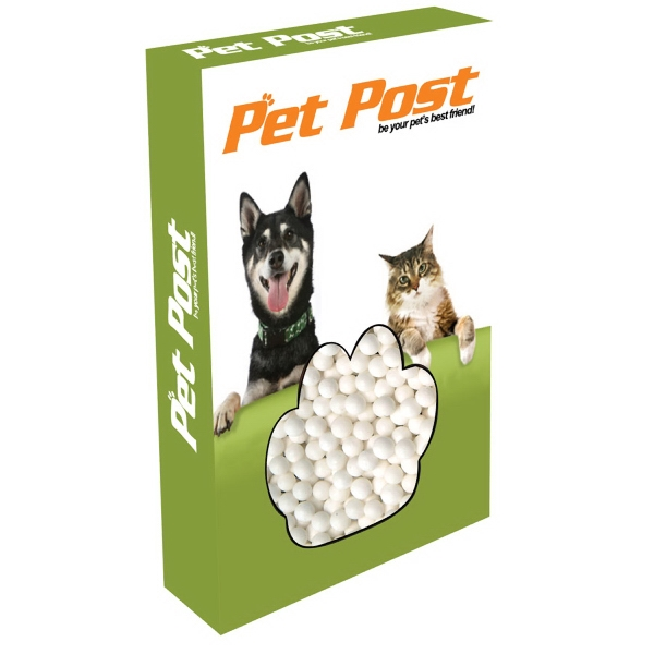 Item #PAW-BOX-MINTS Customizable Paw Box Packaging with Signature Peppermints
