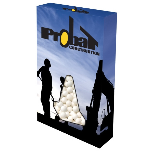 Item #CONE-BOX-MINTS Customizable Cone Box Packaging with Signature Peppermints