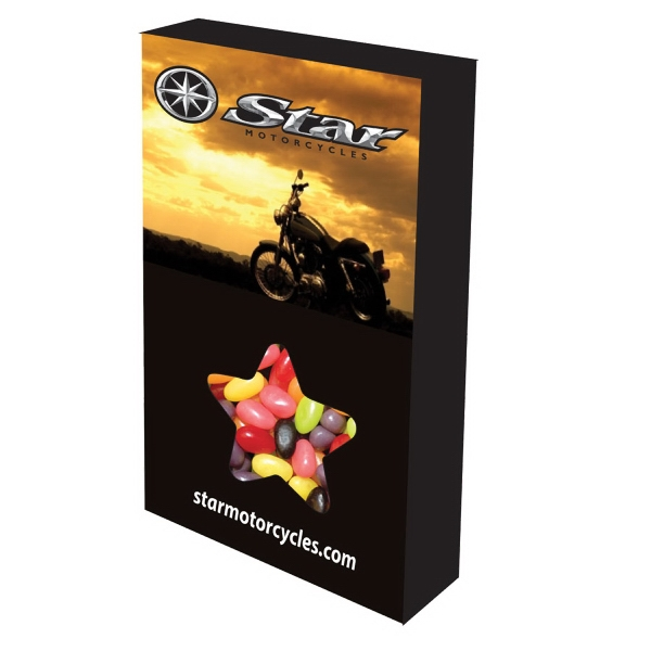 Item #STAR-BOX-JELLY Customizable Star Box Packaging with Jelly Beans Candy