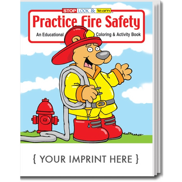 Item #0190 Practice Fire Safety Coloring and Activity Book