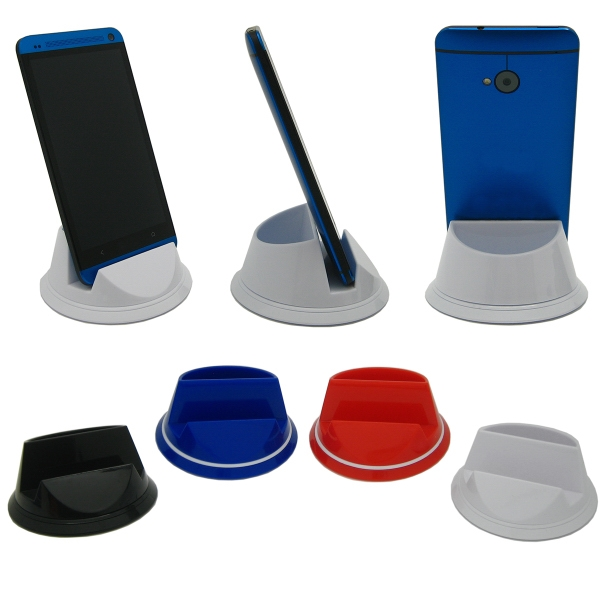 Item #7448 Portofino Spinning Cell Phone Stand with Full Color Dome Imp