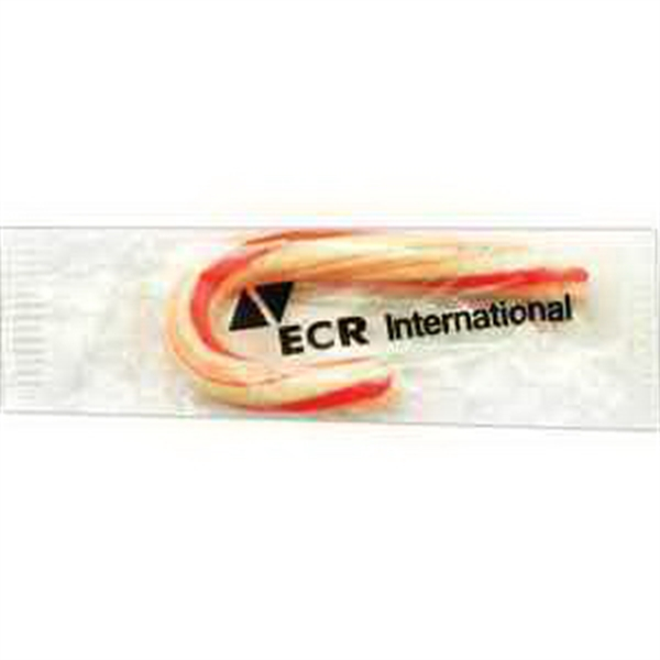 Item #CN-703-E Small Candy Cane with Clear Label