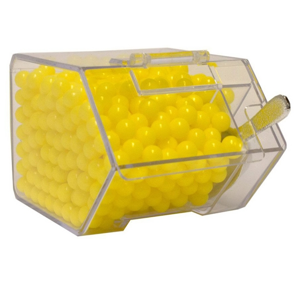 Item #CANDYBIN1-CC Candy Bin Dispenser with Colored Candy
