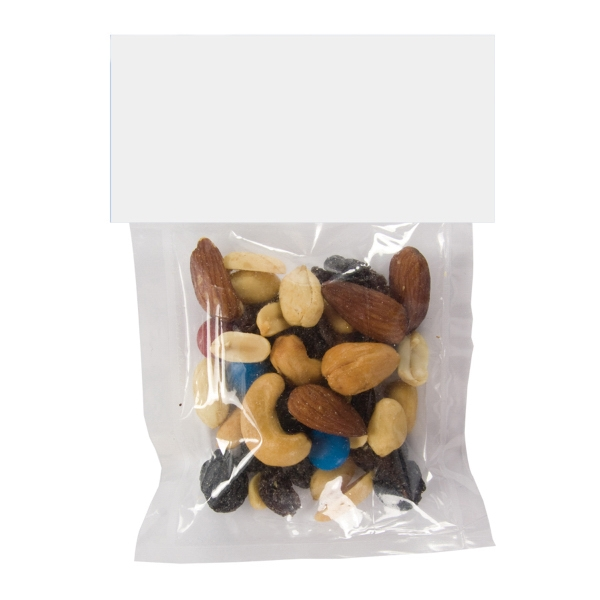 Item #HB30-TRAIL MIX Large Candy Bag (with Header Card) with Trail Mix