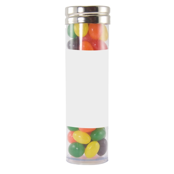 Item #LGPT17-JELLY Large Gourmet Plastic Candy Tube with Jelly Beans