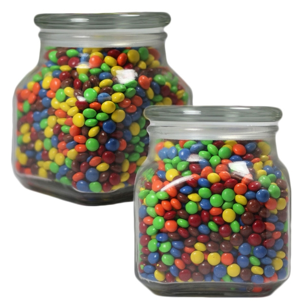 Item #LSCJ32-CL-JAR Large Apothecary Jar with Chocolate Littles - Glass Jar