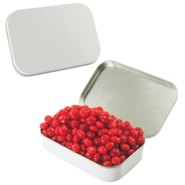 Item #LT01-RED HOTS Large Candy Tin with Cinnamon Red Hots