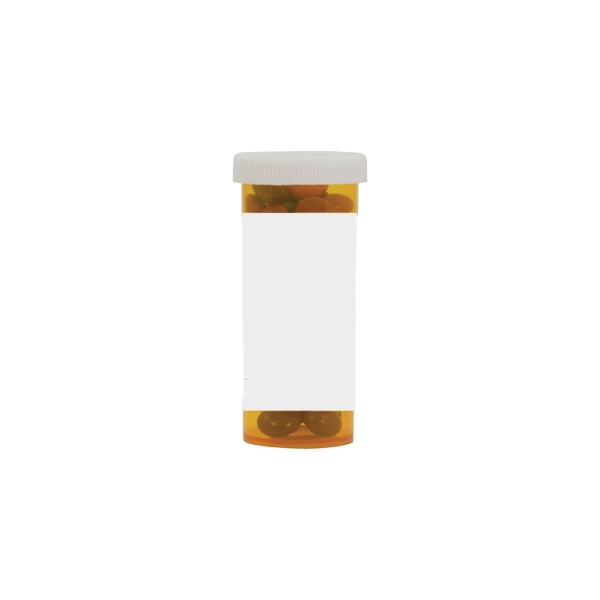 Item #MPB10-CANDY Pill Bottle with Chocolate Littles Compare to M&M(r) Candy