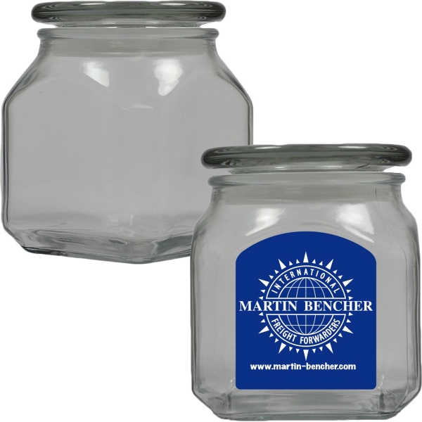 Item #MSCJ20-SP-JAR Glass Apothecary Candy Jar with Signature Peppermint - Mints
