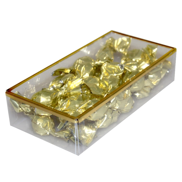 Item #PBG8C-TRUFFLE Golden Favorites Box with Chocolate Truffles
