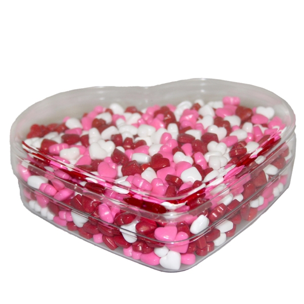 Item #SPHRT-HEARTS Heart Show Piece with Candy Hearts for Valentines Day