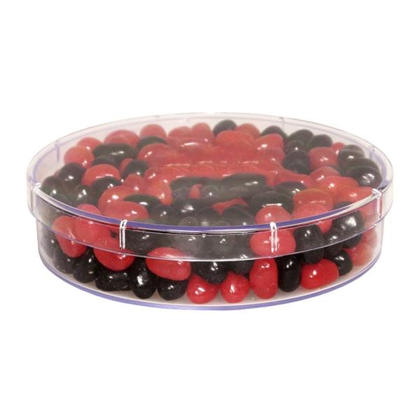 Item #SPLRND-BEANS Large Round Show Piece with Corporate Jelly Beans Candy