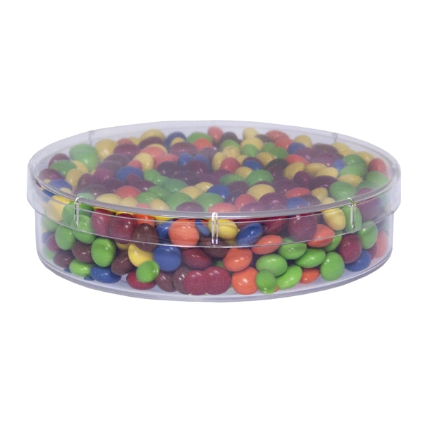 Item #SPLRND-CANDY Large Round Acrylic Show Piece with Chocolate Littles