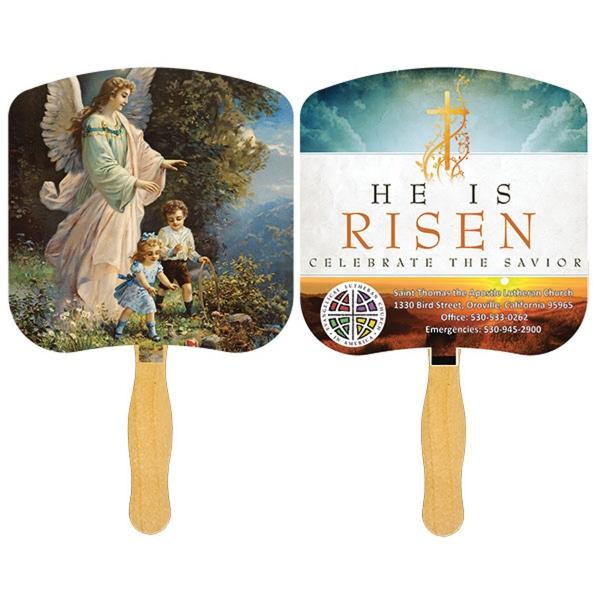 Religious Hand Fan 4 Color Process Item Fr101 Fr110 4