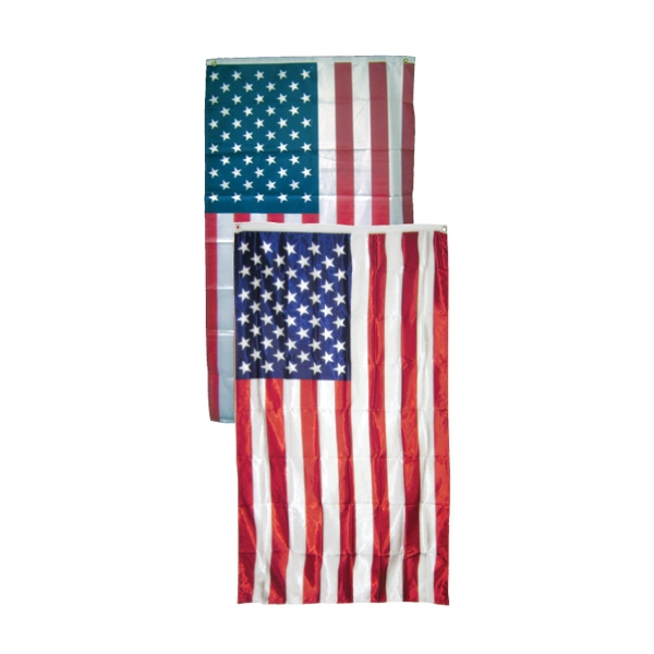 Item #69500 Full size bright printed poly-knit USA flag