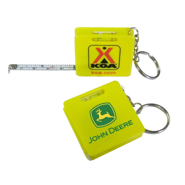Item #TAPE E678 Measuring Tape Keychain - Yellow - E678