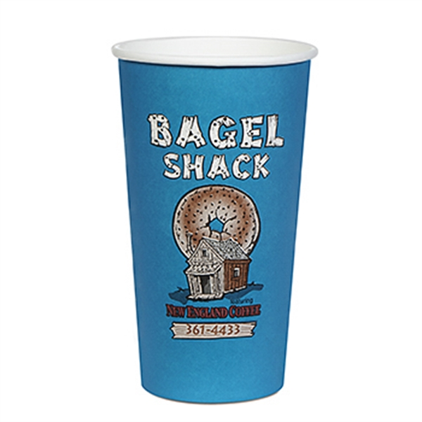 Item #3038-HFX 20 oz Paper Hot Cup - Flexographic Printing