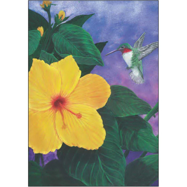 Item #67729 Hummingbird and Hibiscus