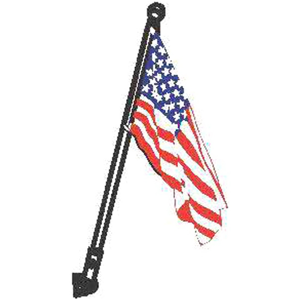 Item #69509 Wood Ball USA flag kit