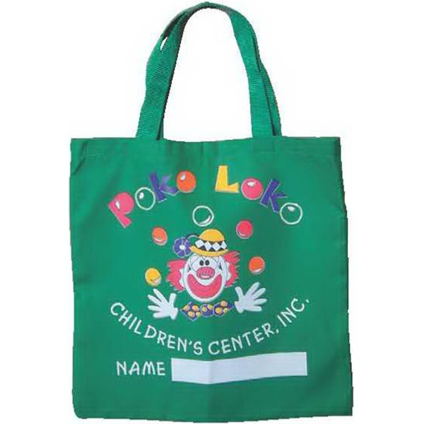 Item #TB160-C Colored Poly-Cotton Twill Medium Flat Tote Bag