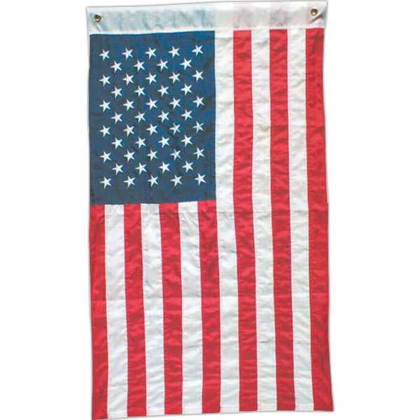 Item #63932 Domestic embroidered USA flag