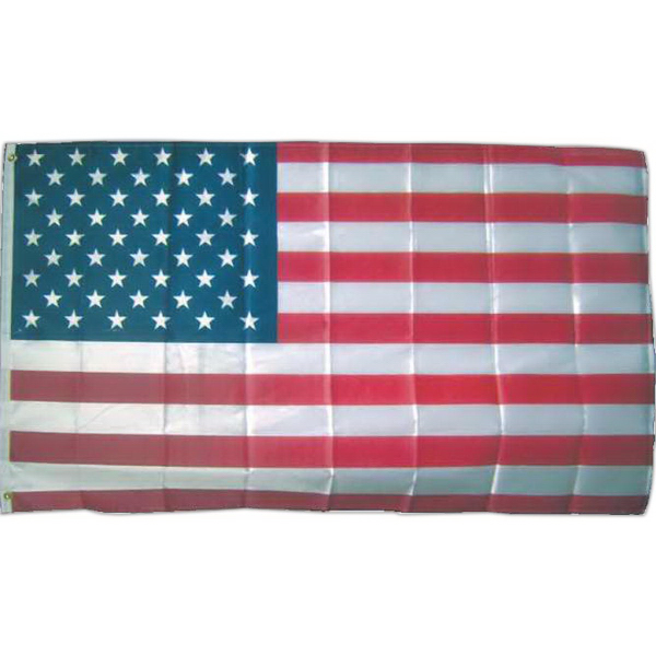 Item #BA274 Full size bright printed poly-knit USA flags