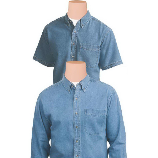 Item #AW430 Short Sleeve Casual Denim Shirt