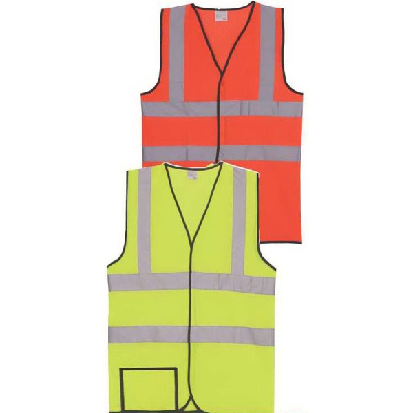 Item #SV163 Dual Stripe L/XL Yellow Solid Safety Vest