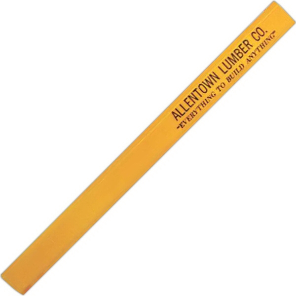Item #WA654 Flat carpenter pencil with no eraser