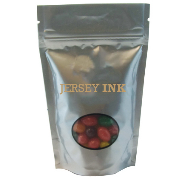 Item #WB1S-JELLY Window Bag with Jelly Beans Candy - Silver