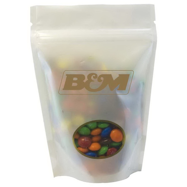 Item #WB2W-MM's Large Window Bag with Compare to M&M(r) candy - White