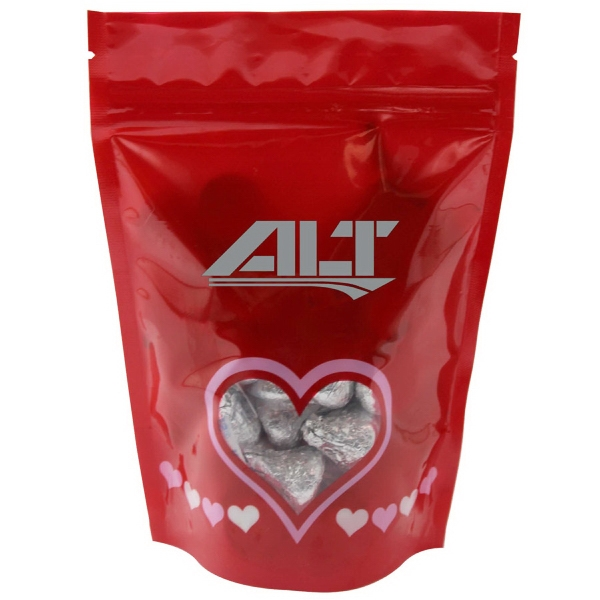 Item #WB2V-KISSES Window Bag with Hershey Kisses Chocolate - Valentines Day