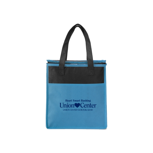 Item #B-7550 Non Woven Colorful Cooler Tote Bag